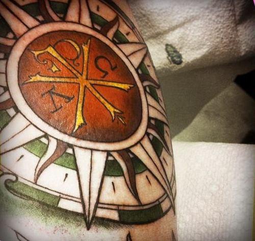 Greek Tattoos Design – Compass Tattoo