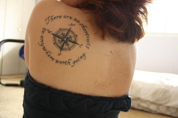 Cute Back Tattoo Design For Girl – Compass Tattoos