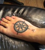 Nautical Compass Tattoos - Tattoo on Foot