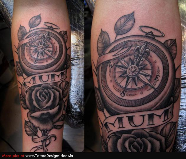 23c0790e5 Tattoo Design Of Rose Tattoos / Compass Tattoos - | TattooMagz ...