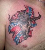 Confederate Flag Tattoos On Chest