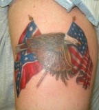 Eagle Flags Patriotic Tattoo