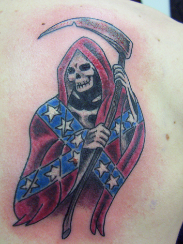 Looking For Unique Tattoos Grim Reaper With Confederate Flag
