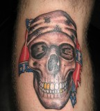 Skull Confederate Flag Tattoo By Kristenhill On Deviantart
