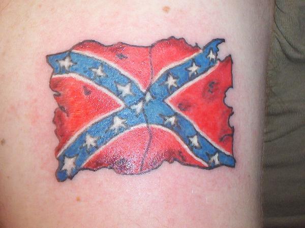 Tatterred Rebel Flag Tattoo Photos From Raven K Raven On