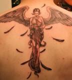 Cool 3D Angel Back Tattoo Design For Men