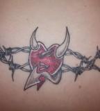 Cool Heart Tattoo Design for Girls