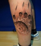 Awesome 3D Tattoo Art on Foot for Men