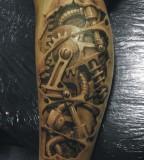 Amazing 3D Art Cyborg Tattoo Design