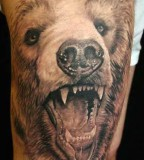 Cool 3D Bear Tattoo Design