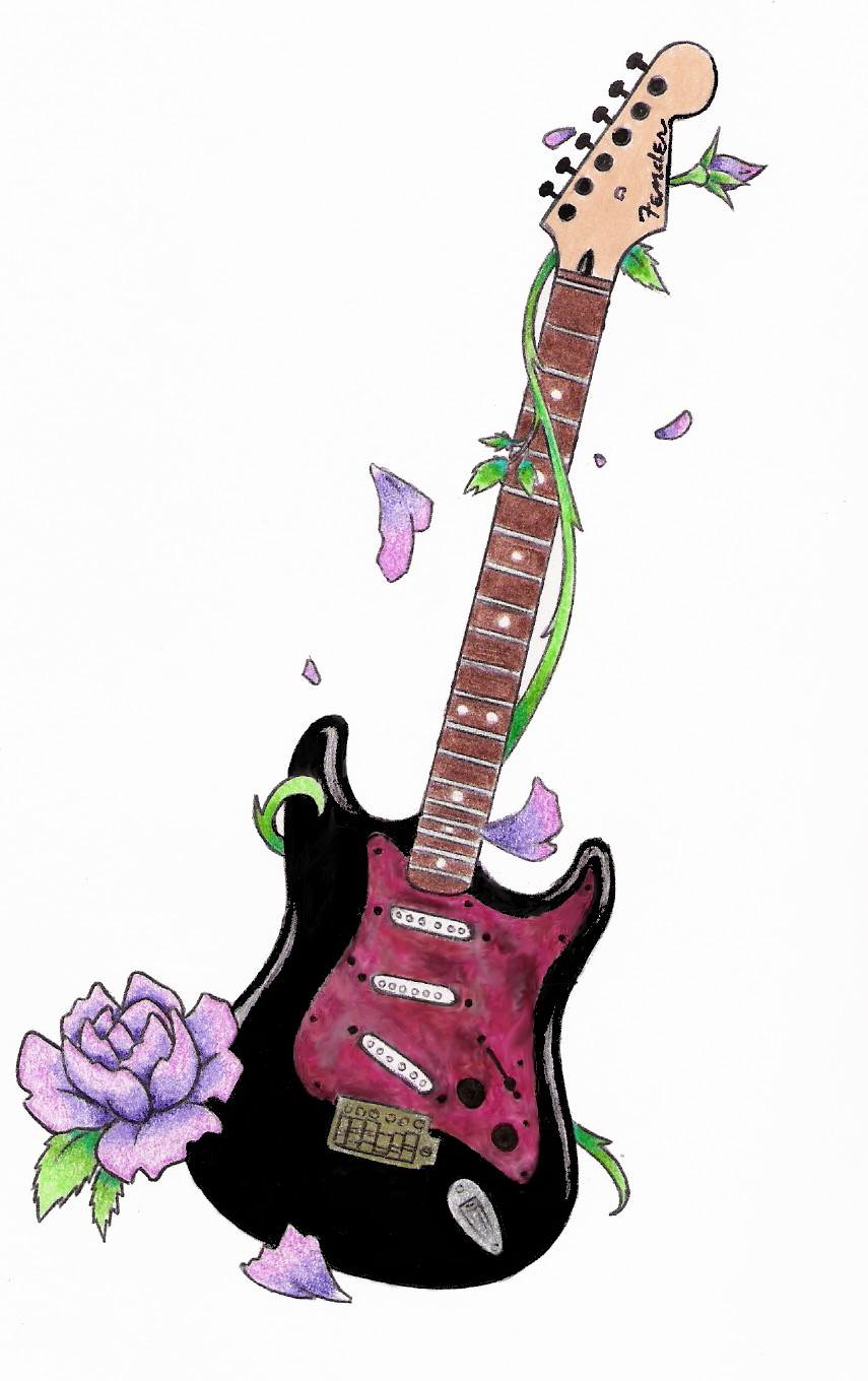 Cool Guitar Tattoo Design Ideas Art