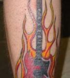 Idea For A Guitar Fire Tattoo