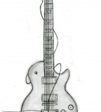 Great Guitar Tattoo Designs Ink Your Body Sketch