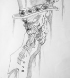 Cool Guitar Ghost Tattoo Design Ideas