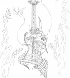 Skull Guitar Tattoo Pictures Sketch Ideas