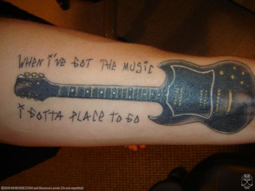 Tattoo Lyrics Rancid And Black Guitar Design