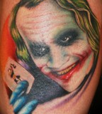 Awesome Joker-Face Tattoo for Men and Women - Unisex Tattoos