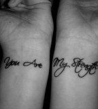Cool Couple-Quote Wrist Tattoos For Girls
