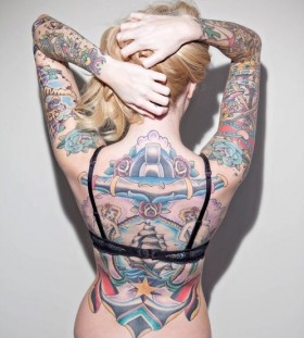 Cool Full Back-Body Tattoos For Girls