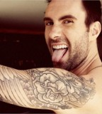 Celeb Adam Levine Upper Arm Tattoo