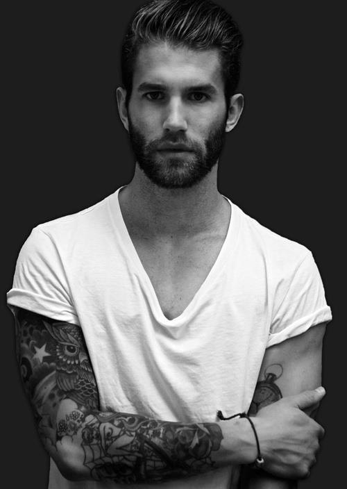 Cool Full-Arm Art Tattoo Design for Guys
