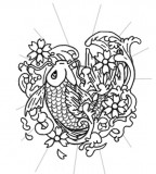 Japanese Koi Fish Tattoo Design Idea