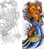 Koi Fish Tattoo Drawings Pictures