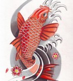 Red Japanese Koi Tattoo