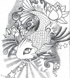 Lotus And Koi Tattoo Design