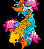 Orange Colored Koi Fish Tattoo Design By Lebunker on Deviantart