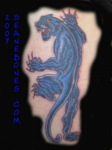 Crawling Panther Tattoo Design Picture