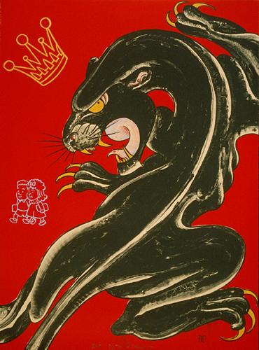 The Black Panther Crawling