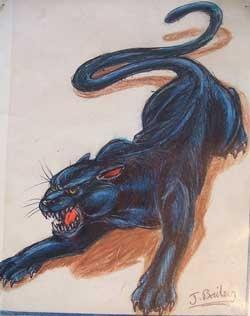 Dashing Panther Tattoo Design Idea