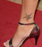 Megan Fox's Leg Crescent Moon and Star Tattoo