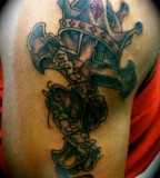 Crown Cross King Of Kings Lord Of Lords  Tattoo Picture At