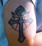 Crown Tattoos and Cross The Angle