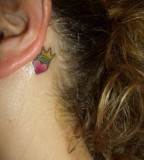 Lady Crown Tattoos in Beautiful Ear