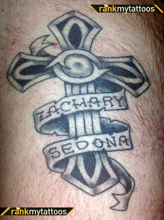 Cross With My Kids Names Cross Tattoo ,