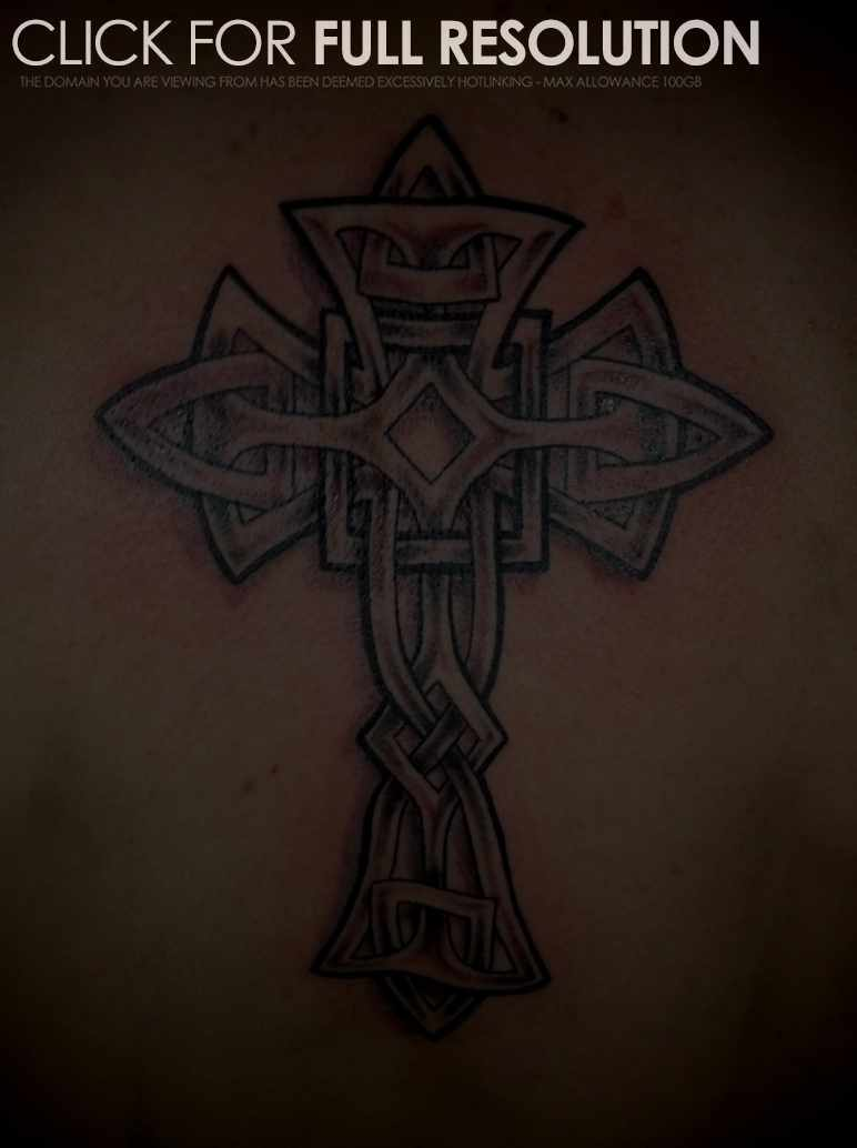 Cool Celtic Cross Dc Tattoo Photo For Man