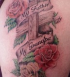 Cross And Roses Tattoo Full of Memories