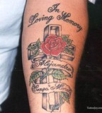 Cool Cross and Rose Tattoo For Man