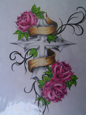 Cross And Tattoo Designs For Women