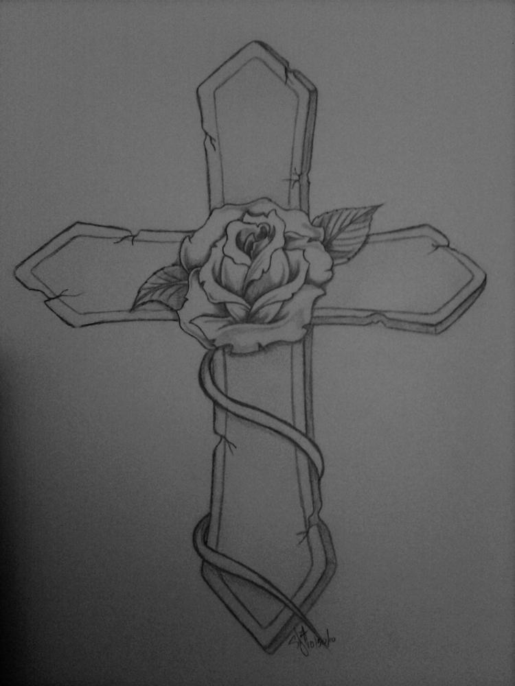 The Best New Tattoo Cross Tattoos Sketch