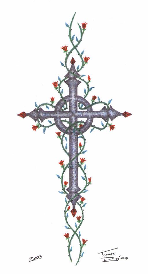 Stone Rose Cross Thomas Robinson Scifi Fantasy Art
