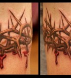 Arrows And Embers Custom Tattooing Crown Of Thorns Blood Drip