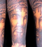 Christian Art Jesus Tattoo On Hand
