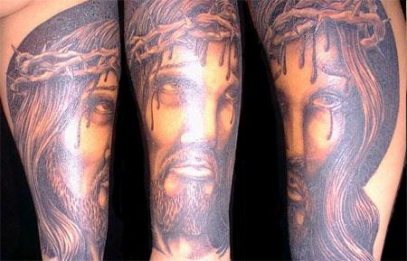 Christian Art Jesus Tattoo On Hand