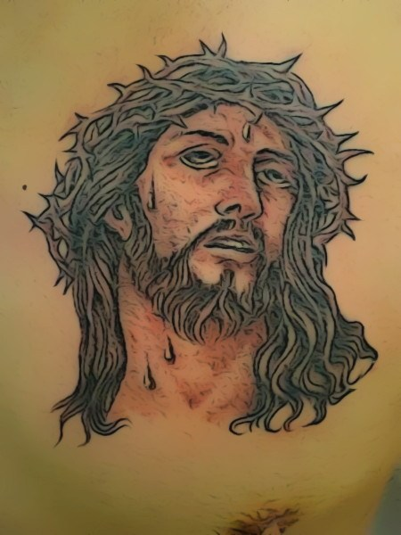 Christian Jesus Crown Of Thorns Tattoo