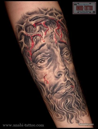 Awesome Jesus Christ Crown Of Thorns Tattoo