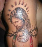 Jesus With Crown Of Thorns Jesus Tattoo